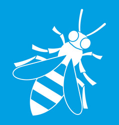 Honey bee icon white vector