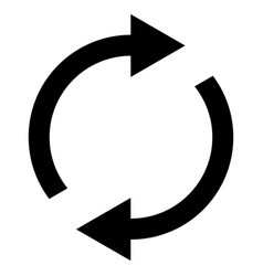 icon swap resumes spinning arrows in circle vector image