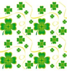 Irish seamless pattern vector image