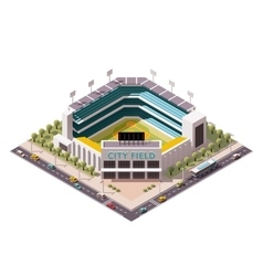Isometric baseball arena vector