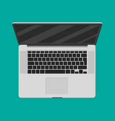 laptop top view mobile computer notebook vector image