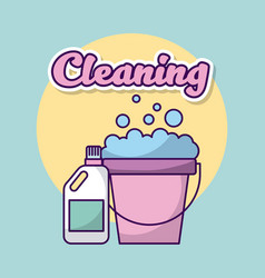 Laundry cleaning clothes vector