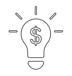 light bulb with money icon vector image