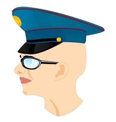 Man in service cap vector image