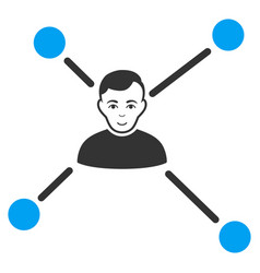 Man links icon vector