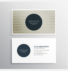 Modern business card with triangle pattern vector