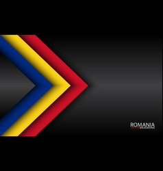 Modern overlayed arrows with romanian colors and vector