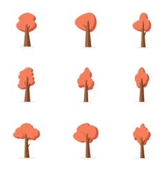 Orange tree set collection stock vector