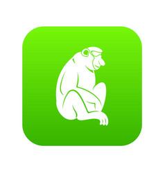 Orangutan icon digital green vector
