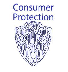 Pcb shield consumer protection vector