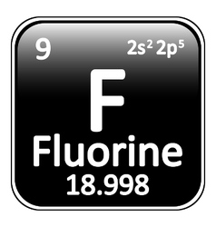Periodic table element fluorine icon vector image