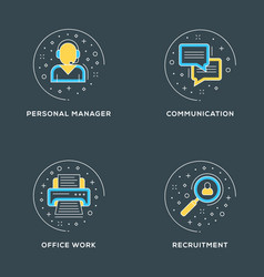 personal management communication office work vector image