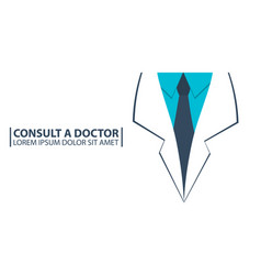 poster consult a doctor medical care medical vector image