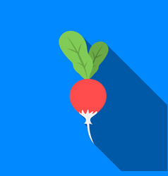 Radish icon flate singe vegetables icon from the vector