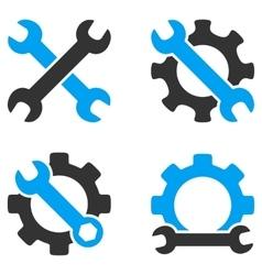 Repair Tools Flat Bicolor Icons vector image
