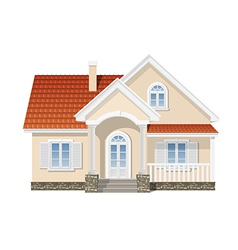 residential house isolated vector image