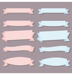 Retro style ribbon banners design elements vector