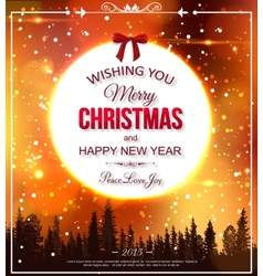 Shining christmas typographical background vector