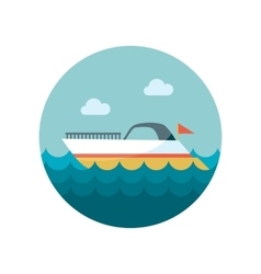 Ship boat flat icon vector