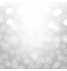 Silver background with bokeh vector