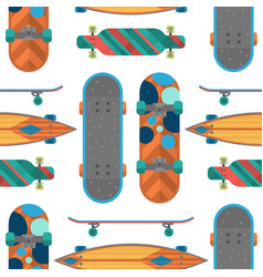 skateboard items fingerboard seamless pattern vector image