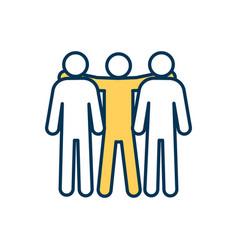 Teammates rgb color icon vector