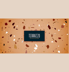Terrazzo floor tile pattern with brown shades vector