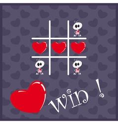 Tic Tac Toe Hearts vector