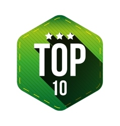 Top 10 - Ten hexagon patch vector