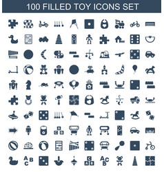 Toy icons vector