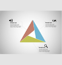 Triangle infographic template consists three vector