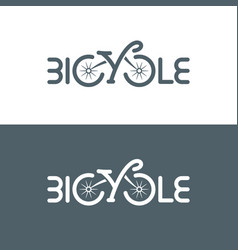 typographic bicycle logo vector image