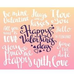 valentines day set valentines stylish trendy vector image