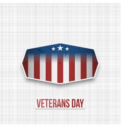 veterans day usa patriotic banner vector image