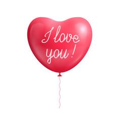 balloon heart shape declaration love isolated vector image vector image