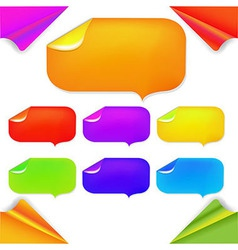 Color Stikers vector image
