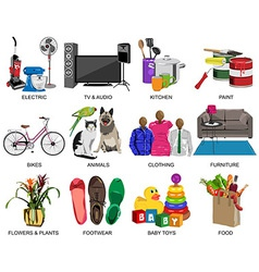 Colorful icons set for Department store vector image vector image