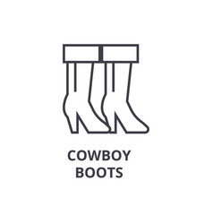 cowboy boots line icon outline sign linear vector image