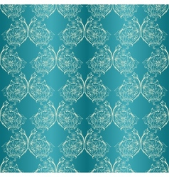 damask seamless with lace ornament vector image vector image