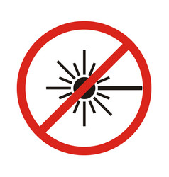 no laser sign vector image