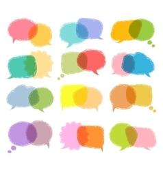Talking bubble colorful set vector image vector image