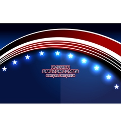 american curve template independence vector image vector image