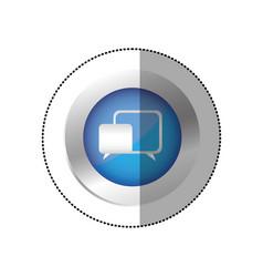 blue symbol chat bubbles icon vector image
