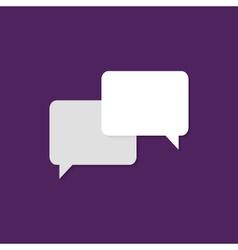 Communication flat icon over purple vector