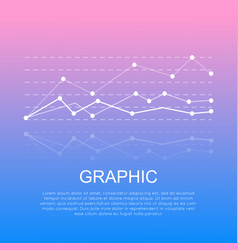 graphic with curve lines isolated with information vector image