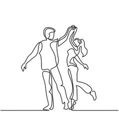 happy loving couple dancing vector image vector image