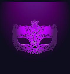 purple carnival mask mardi gras vector image