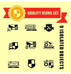 quality computer technology icons set vector image