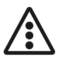 Traffic signal ahead sign line icon vector