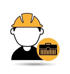 avatar man construction worker toolbox icon vector image